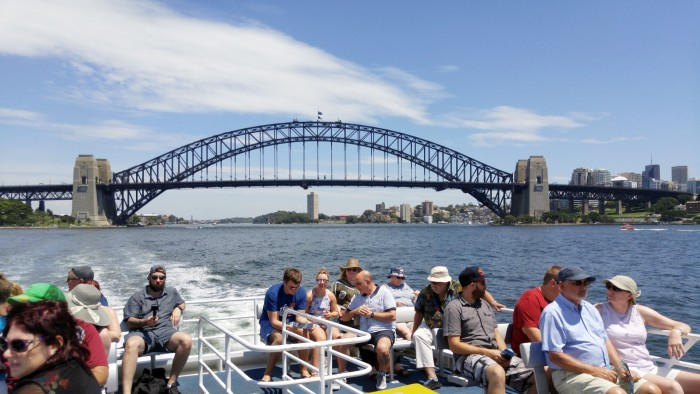 On Ferry in Sydney