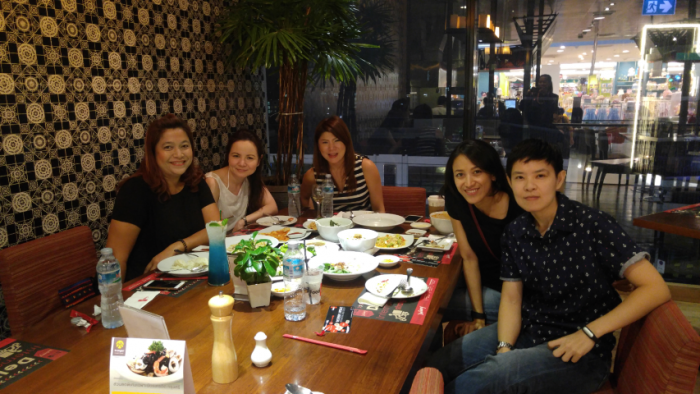 With SJ. Friend at FoodLoft