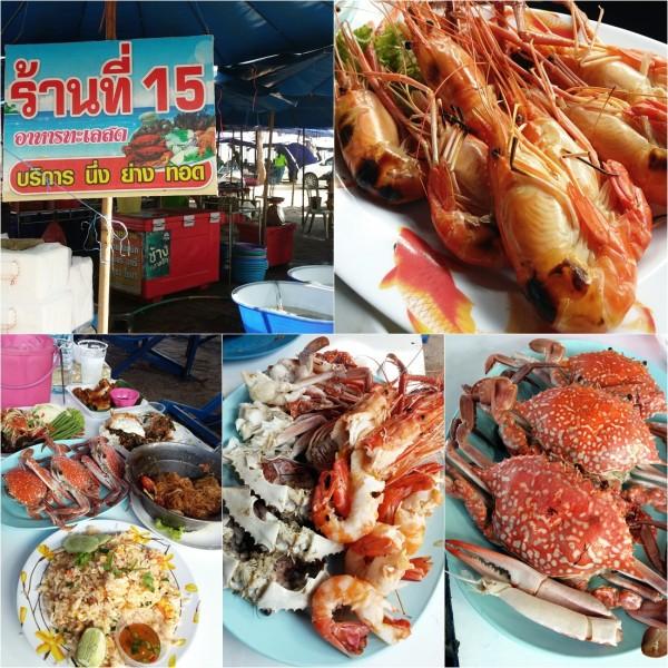 คุณจำเนียร ร้านอาหารทะเล เบอร์ 15 ชายหาดชะอำ