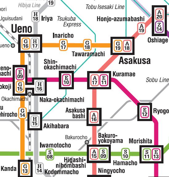 Ueno_Metro_Map