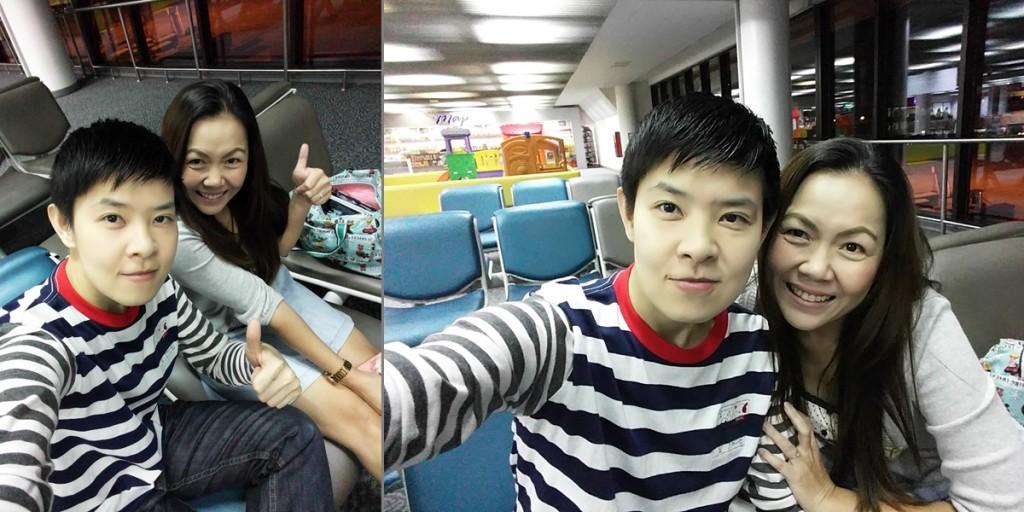 Selfie before departure to Taipei