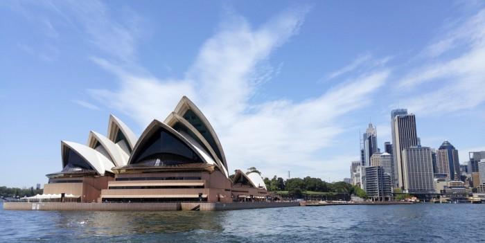 On Ferry in Sydney