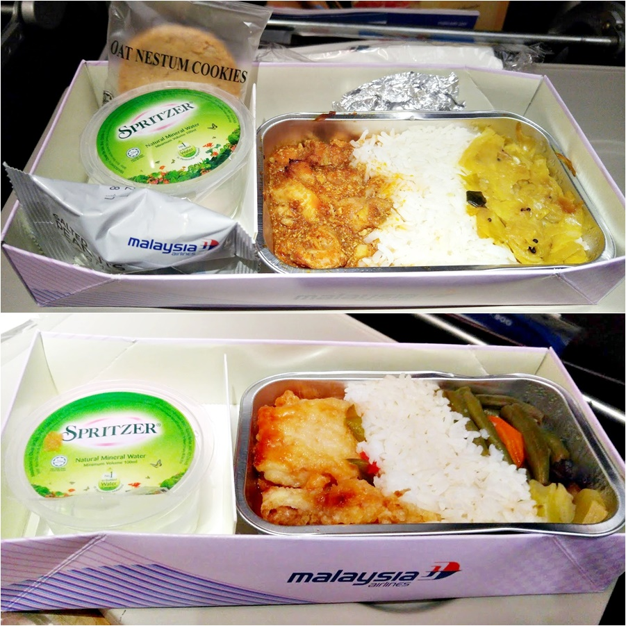Meal on Malaysia Airline
